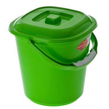 Пластмасова кофа квадратна с капак №1 4л. (3050)  - Senyayla