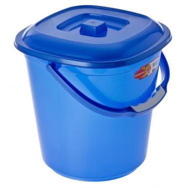 Пластмасова кофа квадратна с капак №2 9.5л. (3055) - Senyayla