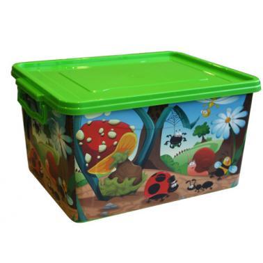 Пластмасова детска кутия контейнер с 3 различни декори  (2605/2695) - Senyayla