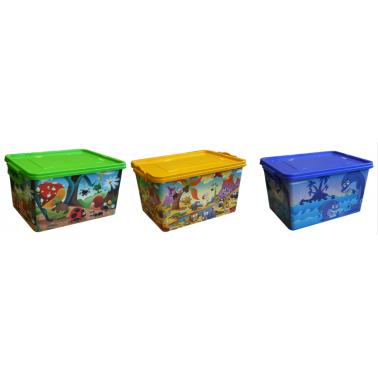 Пластмасова детска кутия контейнер с 3 различни декора  (2605/2695) - Senyayla