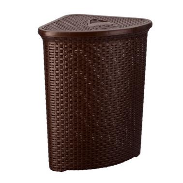 Пластмасов кош пране ратан ъглов 52 л. (4627) - Senyayla