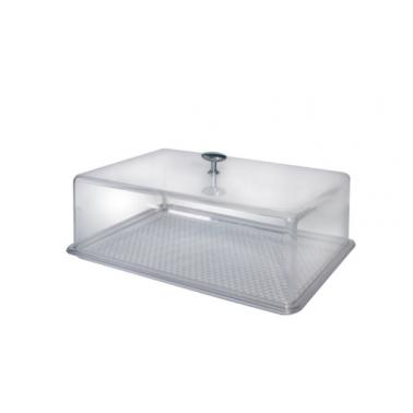Пластмасов поднос с капак N3 32,5x22,5xh11,5см прозрачен SA-(2813)- Senyayla