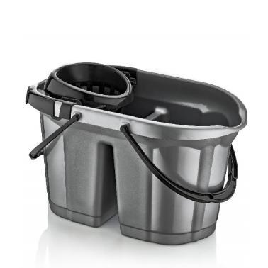 Пластмасова кофа с цедка с отделение за чиста и мръсна вода 16л. DUNYA-(09325)