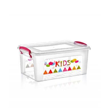 Пластмасова кутия контейнер дълбока с декор 9л 35,8x23xh16см DUNYA-(30264)