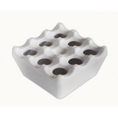 Меламинов пепелник ветроустойчив квадратен 9x9см бял(345) - Horecano