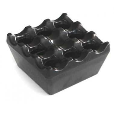 Меламинов пепелник ветроустойчив квадратен9x9см черен(345)- Horecano