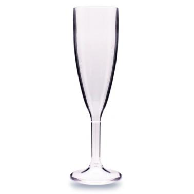 Поликарбонатна чаша    за шампанско   180мл 5,5x21,8см  прозрачна RK-(GB.C18)  - Rubikap