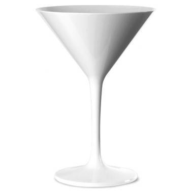 Поликарбонатна чаша за Мартини  200мл 11,2xh17см бяла  RK-(PM.M20)  - Rubikap