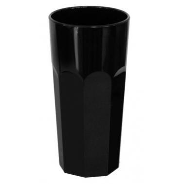 Поликарбонатна чаша 7,5xh14,8см 360мл черна RK-PREMIUM BLACK-(PM.360)- Rubikap