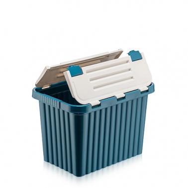 Пластмасова кутия контейнер за съхранение 16л38x25,5xh25,5смразлични цветове DUNYA-(20020)