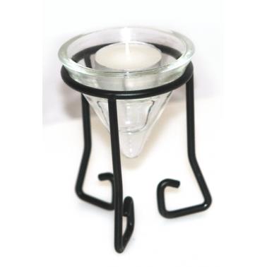 Свещник със свещ на метална стойка  (35117М) - Horecano