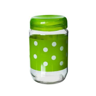 Стъклен буркан  с пластвасова капачка зелен  720мл  (E) M-131768/131968 - Horecano