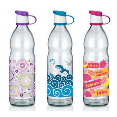 Стъклена бутилка 1лс декор ZENM-151914/151502- Horecano