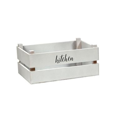 Дървена касетка за сервиране бяла 17,5x10,3xh7,5см, M-4WD026 - Horecano