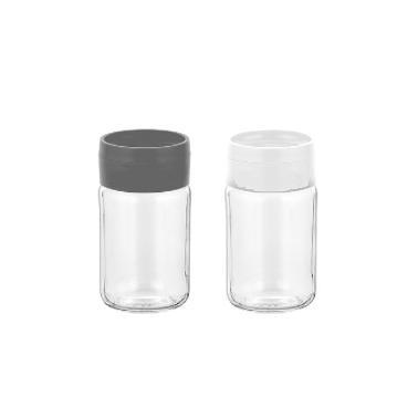 Стъклена солницаDORIAN 105мл без декор (ЧЕРЕН или БЯЛ КАПАК)M-121243 - Horecano