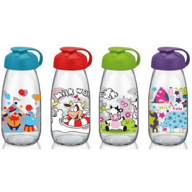 Стъклена бутилкас декор 250млM-151969- Horecano