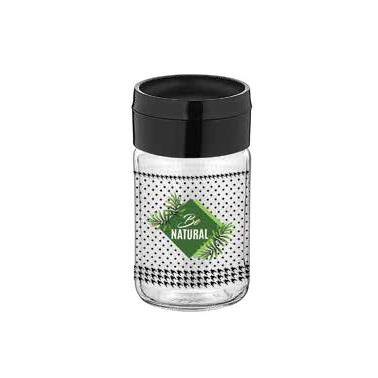 Стъклена солница с декор 105мл