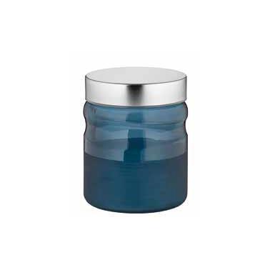 Стъклен буркан с метална капачка син 900мл COBALTM-132014 - Horecano
