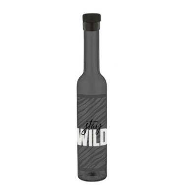 Стъклена бутилка за зехтин с декор и тапа 250мл