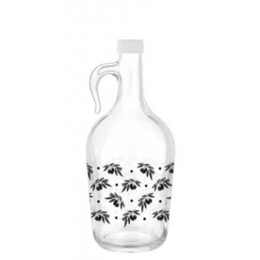 Стъклена бутилка с дръжка и тапа 1,5л