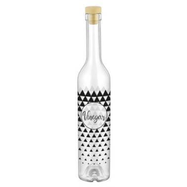 Стъклена бутилка за оцет с тапа 500мл