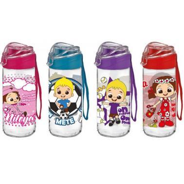 Стъклена бутилка детска с капаче 500млM-151963- Horecano