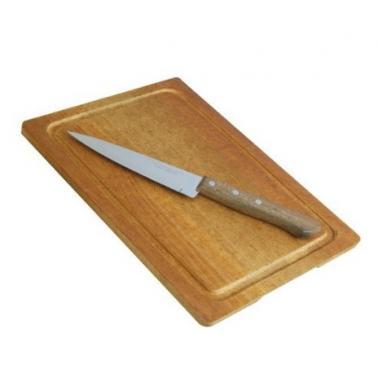 Комплект от дървена дъска 21x31см с нож (1506)SIMONAGGIO-CUCINA MIA