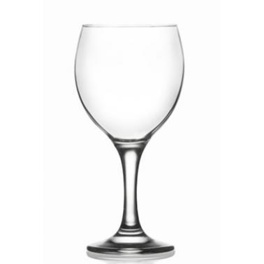 Стъклена чаша на столче за вода / вино 365млLAV-MIS 560