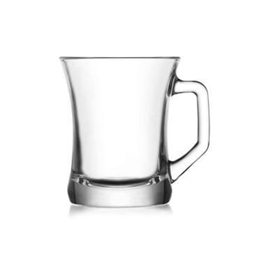 Стъклена чаша за  топли напитки с дръжка  225мл ZPL 404 - Lav