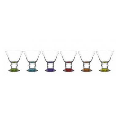 Стъклена чаша   за сладолед с цветно столче  255мл LAV -ORN 319 PT068FC