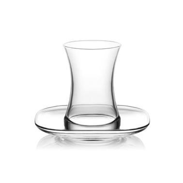 Стъклен комплект за турски чай   / топли напитки  155мл/ 6бр. ZEN S1x - Lav
