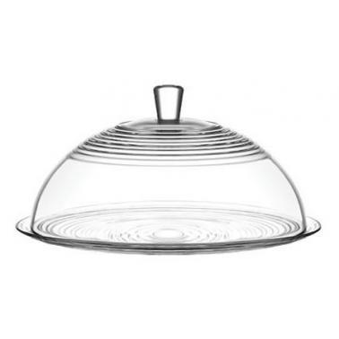 Стъклена чиния за сервиране с капак 34,5см DRN PSTS2 - Lav
