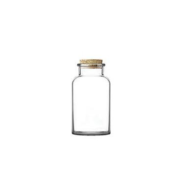 Стъклен буркан с коркова тапа 612мл  MIA 050 - Lav