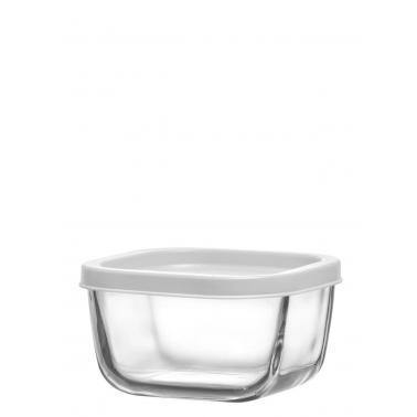 Стъклена кутия с бял капак 270млCUB 225 - Lav