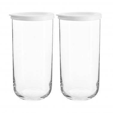 Стъклен буркан с бял силиконов капак 10,5см h21см 1,4лDUO 140 - Lav