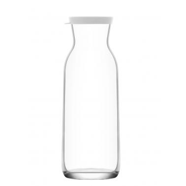 Стъклена гарафа с бял капак 6,8см h20,3см 700млFON 856 - Lav