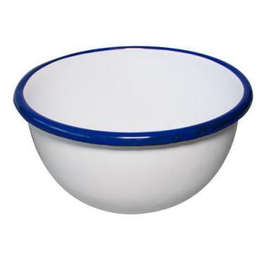 Емайлирана купа  ф22см синьо/бяло RETRO-(69/22 1+1+2) - Horecano