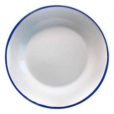 Емайлирана чиния    ф24см синьо/бяло RETRO-(99J/24 1+1+2) - Horecano