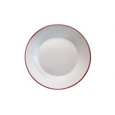 Емайлирана чиния ф8,5см крем/червено  RETRO-(61F/8,5 105-105) - Horecano