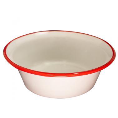 Емайлирана купа конус ф24см крем/червено RETRO-(101C/24 105+105) - Horecano