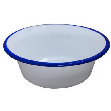 Емайлирана купа  конус ф24см синьо/бяло RETRO-(101C/24 1+1+2) - Horecano