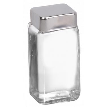 Стъклена солница резерва с иноксова капачка  85мл  (SP-S) ДС - Horecano