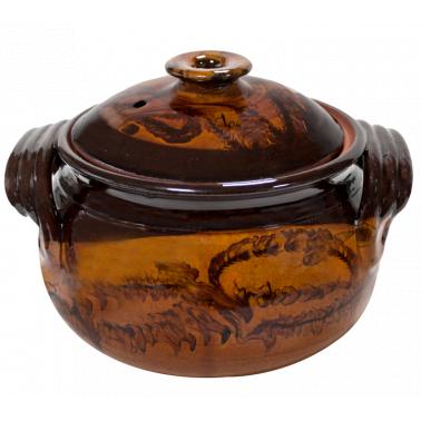 Гювеч  от  троянкса керамика  3.5л  кафяв   /КК - Horecano