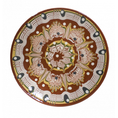 Чиния  от троянска керамика  ф17см /КК - Horecano