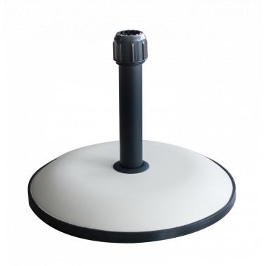Стойка за чадър 25кг  кръг бяла (YTH25-W) - Horecano