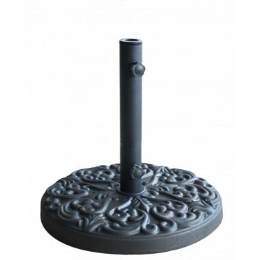 Стойка за чадър 25кг  кръг черна  с релеф (FTH25-B) - Horecano