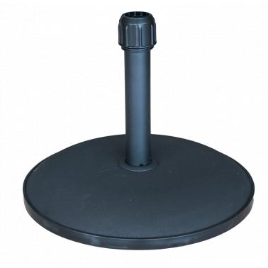Стойка за чадър 25кг  кръг черна (YTH25-B) - Horecano