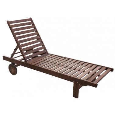 Дървен шезлонг класик 193x60x30см (C3017D) - Horecano