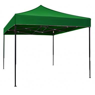 Метална шатра сгъваема 3x3м - зелена (C33A-DARK GREEN) - Horecano