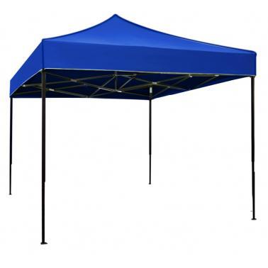 Метална шатра сгъваема 3x3м - синя (C33A-BLUE) - Horecano